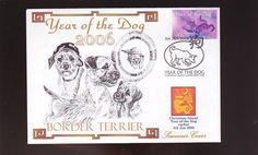 Border Terrier Souv Cover 2006 Year of The Dog Stamp 2 | eBay