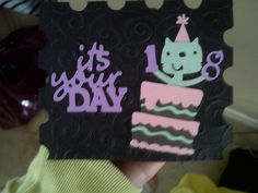 birthday card, cricut machine