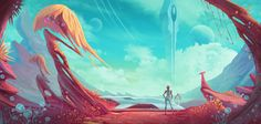 Greatly inspired by the wonderful promotional art and concept art of No Man's Sky. www.artstation.com/artist/andi…