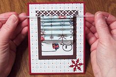 Splitcoaststampers - Tutorials Mini Blind card (way too cute!