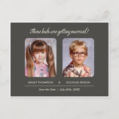 Old Photo Save the Date Postcard Photo Save The Date, Funny Save The Dates, Save The Date Pictures, Modern Save The Dates, Save The Date Wording, Save The Date Invitations, Save The Date Postcards, Save The Date Magnets, Wedding Save The Dates