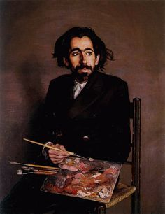 Spanish Painter Ignacio Zuloaga (1870-1945) - Portrait of Painter Balenciaga