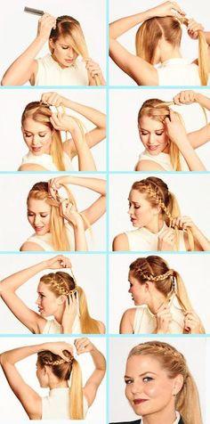 * estilisme * Lorena Añó: Coleta-trenza. Un peinado fácil y llamativo.