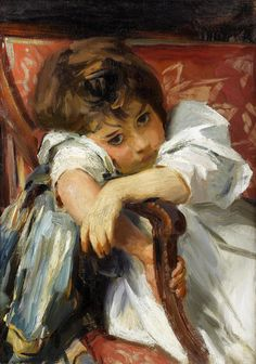"""Perhaps dreaming about her future debutante ball? """"Portrait of a Child"""" by John Singer Sargent (1856-1925)."""