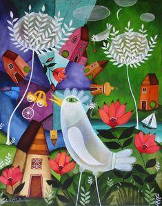 Rule Of Three, South African Artists, Naive Art, Various Artists, Dinosaur Stuffed Animal, Canvas Art, Kids Rugs, Illustration, Art Paintings