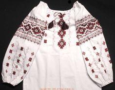 Handmade Ukrainian hand embroidered women's blouse #WS07-4302 from Western Ukraine, sold on AllThingsUkrainian.com