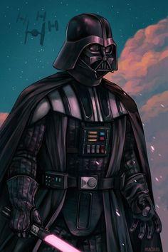 Darth Vader Created by Alice Hamel Vader Star Wars, Star Wars Boba Fett, Lego Star Wars, Star Trek, Anakin Vader, Anakin Skywalker, Darth Maul, Darth Vader Comic, Darth Vader Artwork