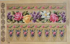 Beautiful Berlin WoolWork Border Patterns By Heinrich Kühn Berlin 1867