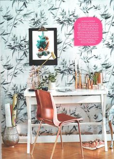 Designers Guild Bamboo wallpaper as seen in Leva & Bo, Sweden