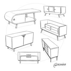 Design sketchbook 2018 on behance free cad blocks furniture 08 sofas couches blocks cad couches free furniture sofas ikea Types Of Furniture, Refurbished Furniture, Plywood Furniture, French Furniture, Retro Furniture, Design Furniture, Art Furniture, Furniture Plans, Furniture Makeover
