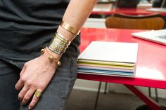 Aurélie Bidermann wearing her favorite bracelets !