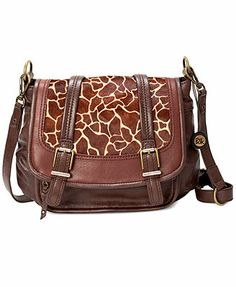 The Sak Handbag, Silverlake Leather Flap Crossbody in tabacco color, the giraffe is adorable but not really my style.