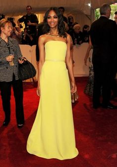 lovely yellow gown