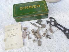 Weiteres - alte Blechdose für Singer Nähmaschine & Zub... - ein Designerstück von artdecoundso bei DaWanda