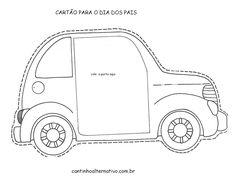 Cartão de Carro que Abre a Porta Para o Dia dos Pais - Blog Cantinho Alternativo