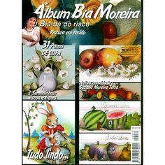 Revista Álbum Bia Moreira Pintura em tecido 31 panos de copa 2 semaninhas páscoa e frutas Artista convidada: Suzana Moreira Terra Fabricante: Editora MBM