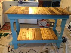 DIY Rustic Pallet Kitchen Island | Pallet Furniture DIY