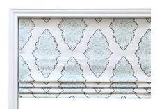 Fabric by the Yard - Premier Prints Monroe Snowy Slub - Home Decor Fabric - Blue Fabric - Damask Pattern-Roman Shade Fabric Damask Pattern, Roman Shades, Flat Roman Shade, Blue Fabric, Damask, Decorative Curtain Rods, Fabric, Faux, Home Decor Fabric