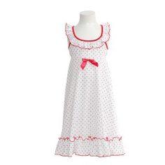 2fbf7ed1eb9 Laura Dare White Strawberry Ruffle Racer Back Nightgown Girls 4-10