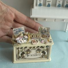 1:24 HALF Scale Sewing Supplies Counter #1 Store Display - Dollhouse Miniature | eBay
