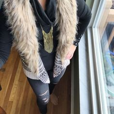 What I Wore Real Mom Style: Fur Lined Vest