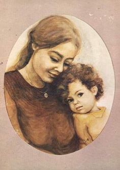 Danuta Muszyńska Zamorska Sci Fi Music, Old Postcards, Mother And Child, S Girls, Mona Lisa, Children, Artwork, Mothers, Painting