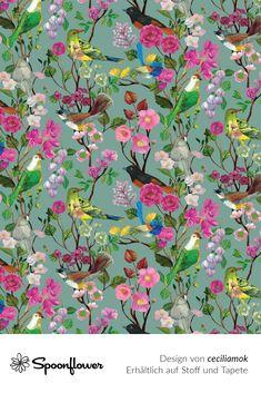 Baumwollstoff Love//Hope//Faith Blumen- Bunt USA Designerstoff