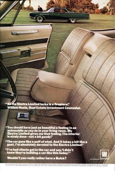 1967 Buick Electra Limited Advertisement National Geographic November 1967