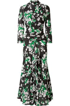 67f39156 RIXO LONDON | Lucy ruffled floral-print silk crepe de chine midi dress Gala  Dresses
