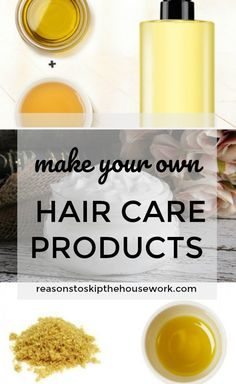 DIY Hair Care Products - keep your hair healthy and shiny without the chemicals and cost of store bought products.