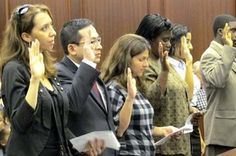 More than two dozen House Republicans have proposed a bill that would prevent the Obama administration from changing the Oath of Allegiance that people take when becoming naturalized U.S. citizens. - See more at: http://americanactionnews.com/articles/gop-bill-blocks-obama-plan-to-water-down-pledge-taken-by-new-u-s-citizens#sthash.UZfDavXf.dpuf