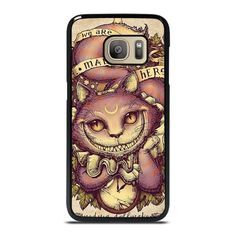 ALICE IN WONDERLAND CHESHIRE CAT ART Samsung Galaxy S7 Case Cover  Vendor: Casesummer Type: Samsung Galaxy S7 Case Price: 14.90  This elegant ALICE IN WONDERLAND CHESHIRE CAT ART Samsung Galaxy S7 case is going to cover your Samsung S7 phone from every hit and scratches with dashing style. The durable material may provide the excellent protection from impacts to the back sides and corners of your Samsung phone. We manufacture the phone cover from hard plastic or silicone rubber in black or… Galaxy Note 9, Samsung Galaxy Note 8, Galaxy S7, Cheshire Cat Art, S7 Case, Alice In Wonderland, S7 Phone, Silicone Rubber, Phone Cover