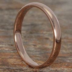 Rose Gold Tungsten Wedding Band Rose Gold Stackable Ring