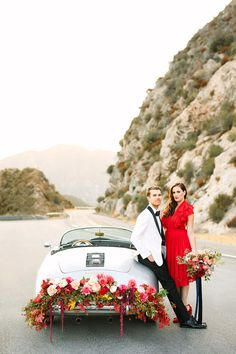 Angeles national forest engagement shoot with The Black Tux Layer Cake) Maroon Wedding, Wedding Car, Wedding Shoot, Wedding Bells, Modern Vintage Weddings, Engagement Inspiration, Wedding Inspiration, Wedding Ideas, Los Angeles Wedding Photographer