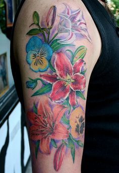 flowers tattoo by MIrek vel Stotker by stotker, via Flickr
