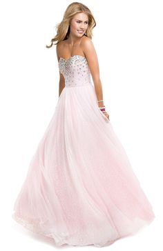 Sparkle Ball Gown Dress With Tulle & Sequin | by FLIRT #pink #prom