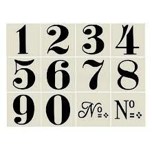 Old World Style No 1 Numbers 12 small stencils Number Tattoo Fonts, Number Tattoos, Number Fonts, Number Art, Stickers Phrase, Number Stencils, Sign Stencils, Deco Champetre, Etiquette Vintage