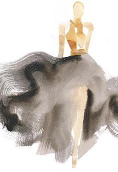 Love the creativity of the simple yet dramatic brushstrokes in this artwork!! lanvin by Aurore de la Morinerie | via vmac+cheese
