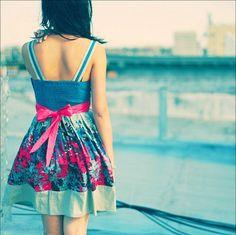 bow, cute, cute dress, cute girl, dress, fashion - inspiring picture ...    #fashion #cute