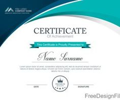 Certificate template with golden color Vector Certificate Layout, Free Certificates, Certificate Design Template, School Certificate, Banner Shapes, Jesus Is Life, Powerpoint Design Templates, Certificate Of Achievement, Free Printable Cards