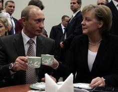 Angela Merkel (1954- ) & Vladimir Putin (1952- ) #coffee #angelamerkel #vladimirputin