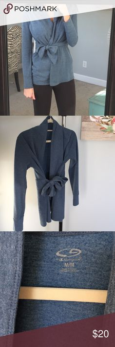 Yoga wrap cover up Cute wrap cover up! Perfect for yoga or casual nights out Champion Tops Camisoles