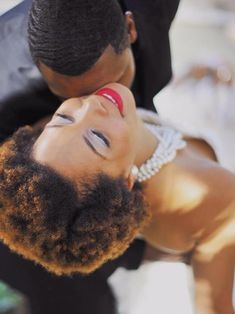 Natural wedding hairstyle for black women