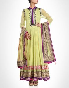 Anarkali with  zari work. Available in more colours.  Shop Now: www.kimaya.in.