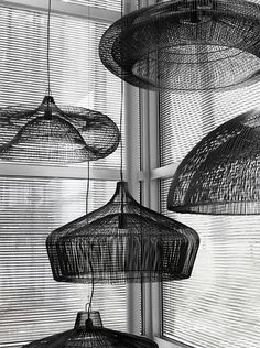Wireframe lampshades