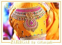 Zarigai By Gitanjali👑 ( Hand Embroidery Design Patterns, Simple Embroidery Designs, Designer Blouse Patterns, Aari Embroidery, Wedding Saree Blouse Designs, Best Blouse Designs, Pattu Saree Blouse Designs, Hand Work Blouse Design, Maggam Work Designs