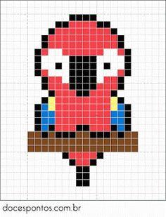 perler beads parrot - Google Search