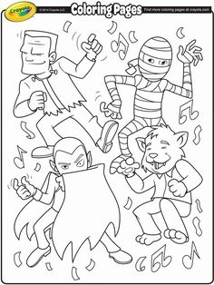 Dance Coloring Pages, Crayola Coloring Pages, Monster Coloring Pages, Fall Coloring Pages, Free Coloring, Coloring Books, Adult Coloring, Halloween Activities, Halloween Themes