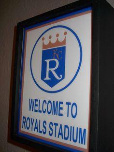 Kansas City Royals Baseball Stadium Ballpark Advertising Lighted Man Cave Sign on Etsy, $34.99