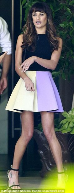 lea michele + shoes